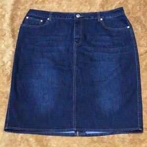 Baccini Denim Skirt